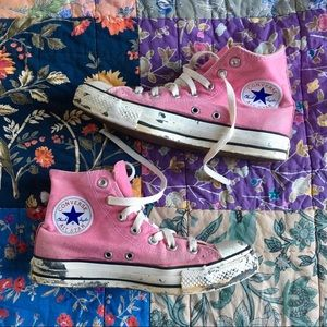 Converse Chuck Taylor's Pink High Top Sneakers
